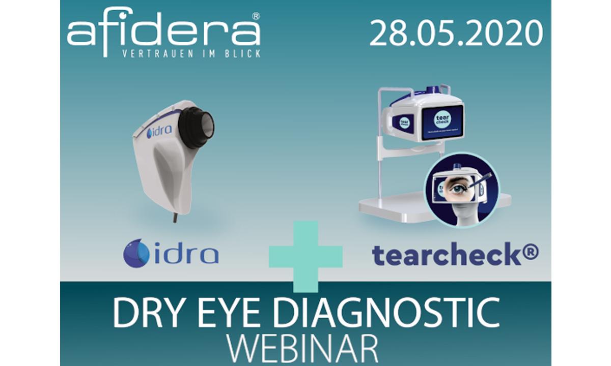 Dry Eye Diagnostic - Live Webinar hier geht´s zur Anmeldung