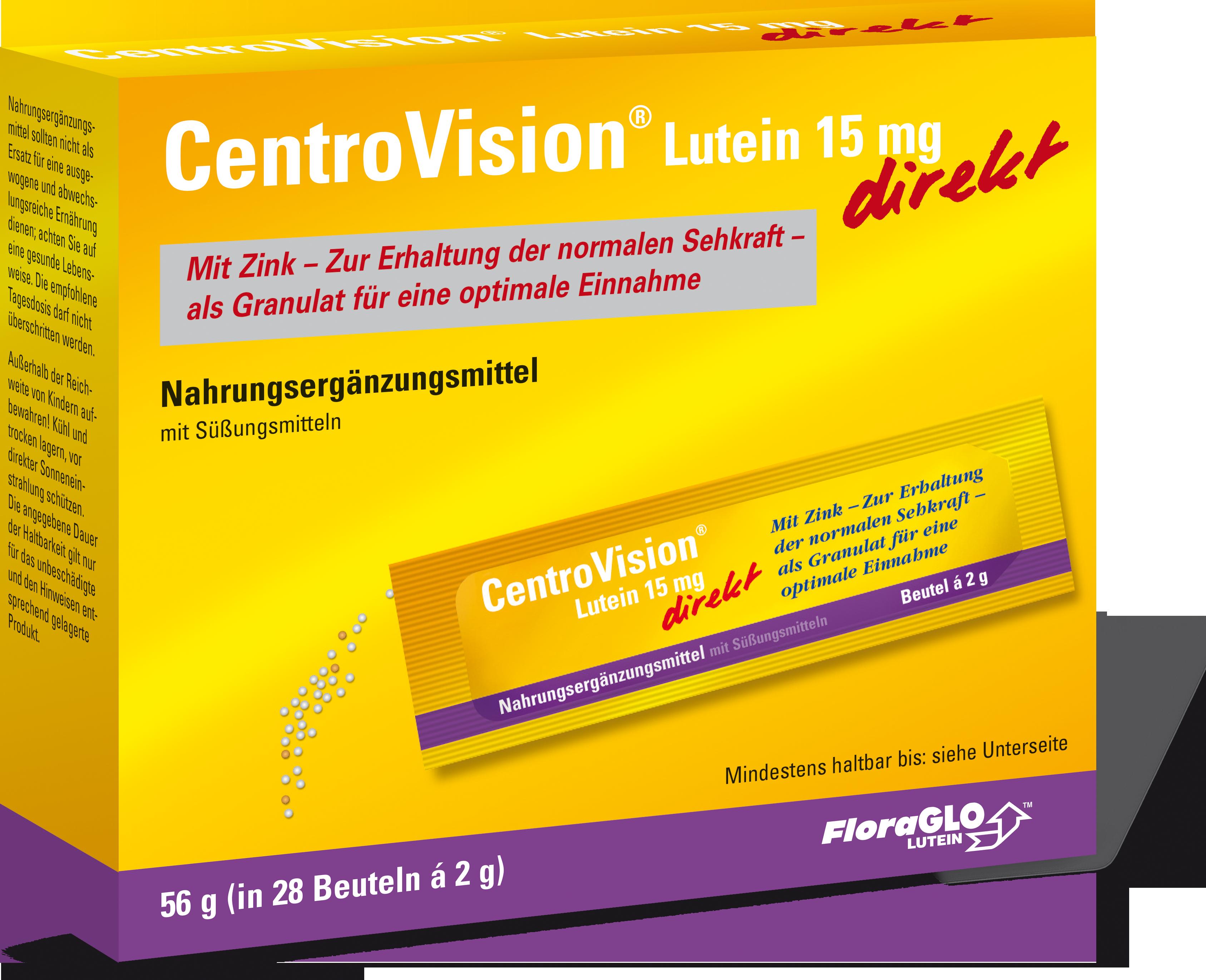 CentroVisionu00ae Lutein 15 mg direkt - 28 Stu00fcck