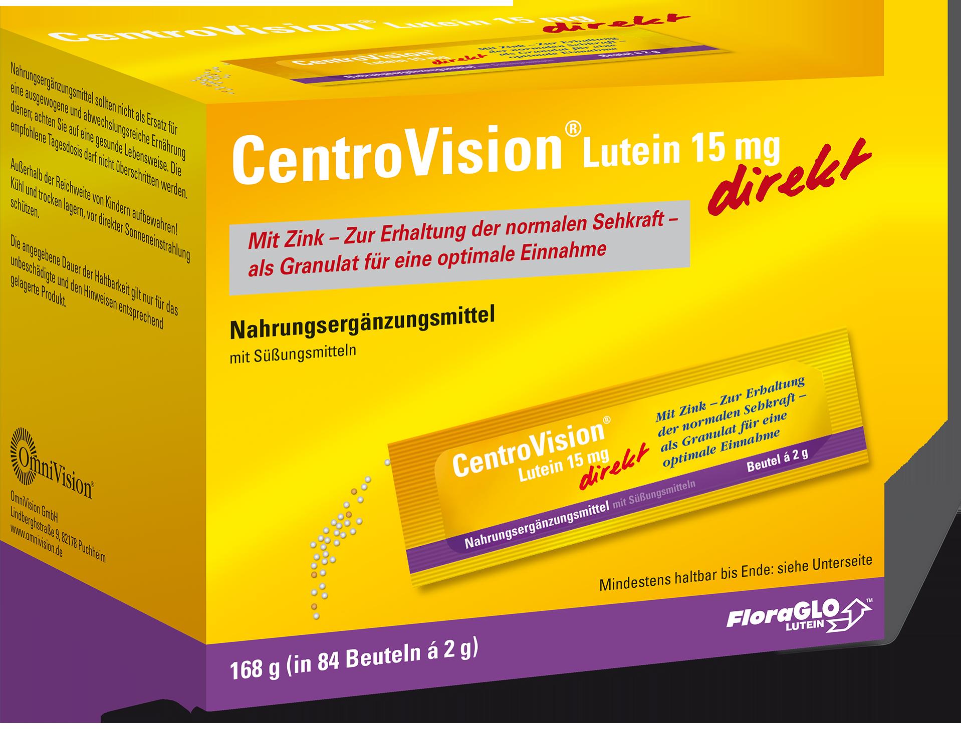 CentroVisionu00ae Lutein 15 mg direkt - 84 Stu00fcck